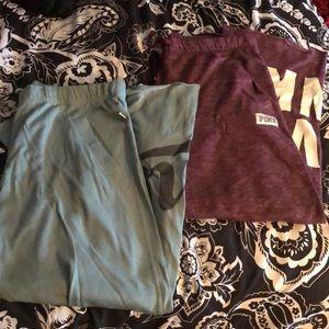 Two Pairs of PINK Boyfriend Sweatpants